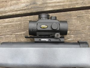 BSA 5 MOA red dot mounted